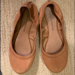 Brown Lucky brand ballerina flats
